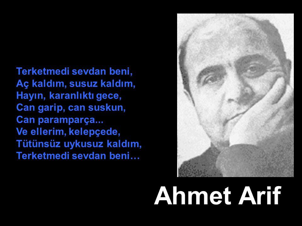 Ahmet Arif Terketmedi sevdan beni, Aç kaldım, susuz kaldım,