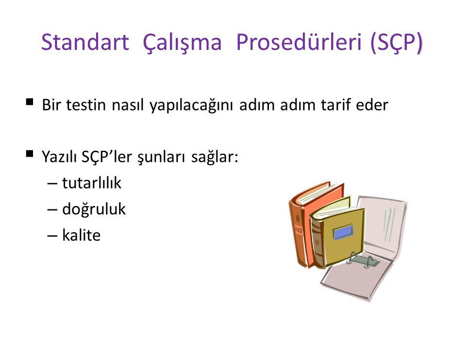 Standart Çalışma Prosedürleri (SÇP)