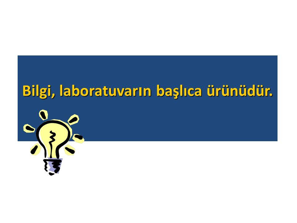 Bilgi, laboratuvarın başlıca ürünüdür.
