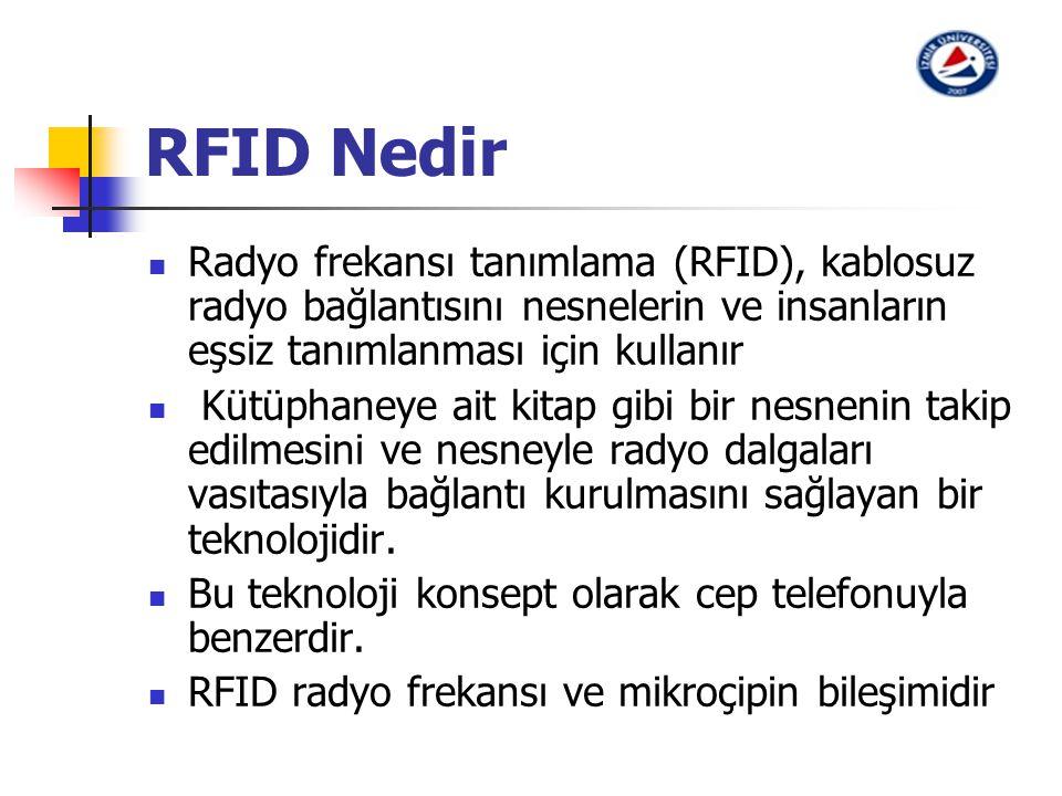 RFID Nedir Radyo frekansı tanımlama (RFID), kablosuz radyo bağlantısını nesnelerin ve insanların eşsiz tanımlanması için kullanır.