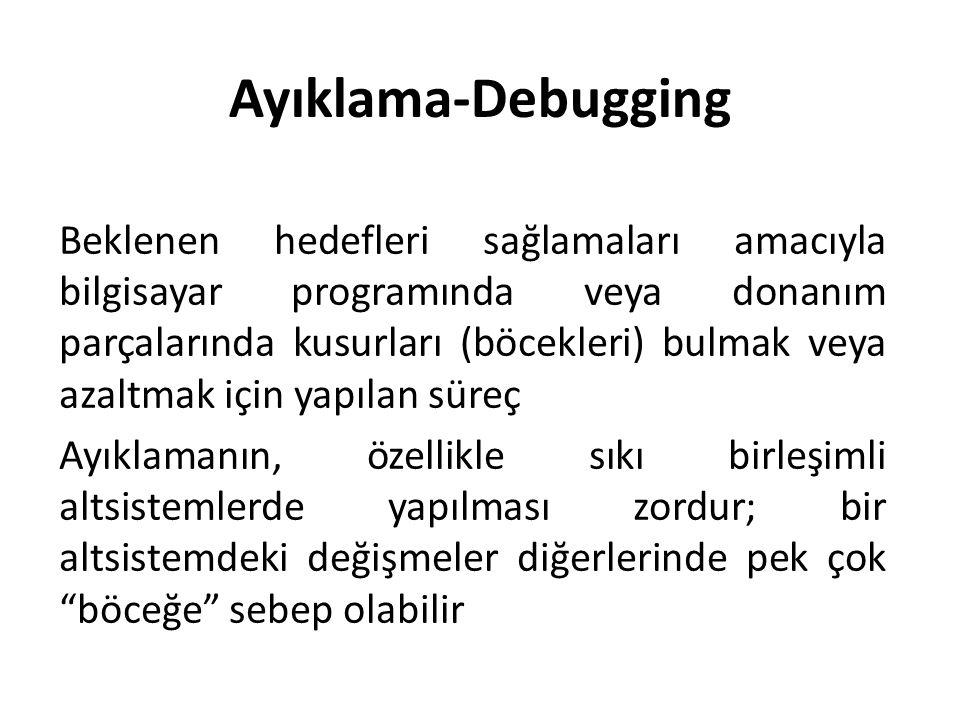 Ayıklama-Debugging