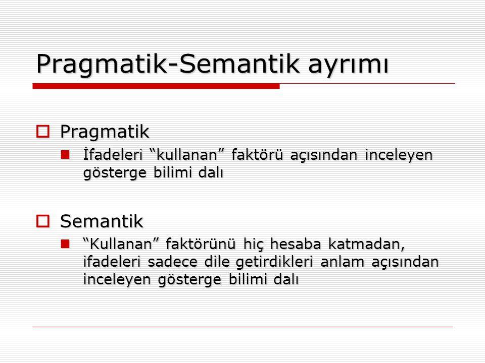 Pragmatik-Semantik ayrımı