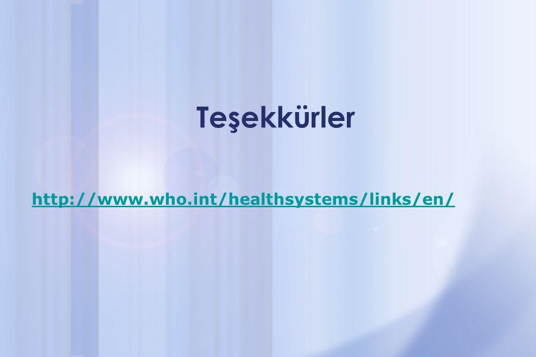 Teşekkürler http://www.who.int/healthsystems/links/en/