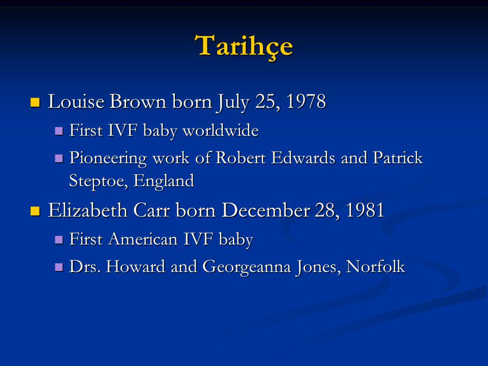 Tarihçe Louise Brown born July 25, 1978
