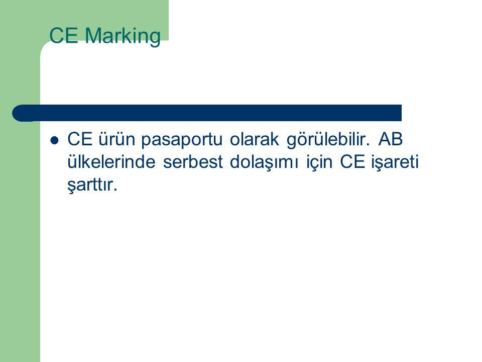 CE Marking CE ürün pasaportu olarak görülebilir.