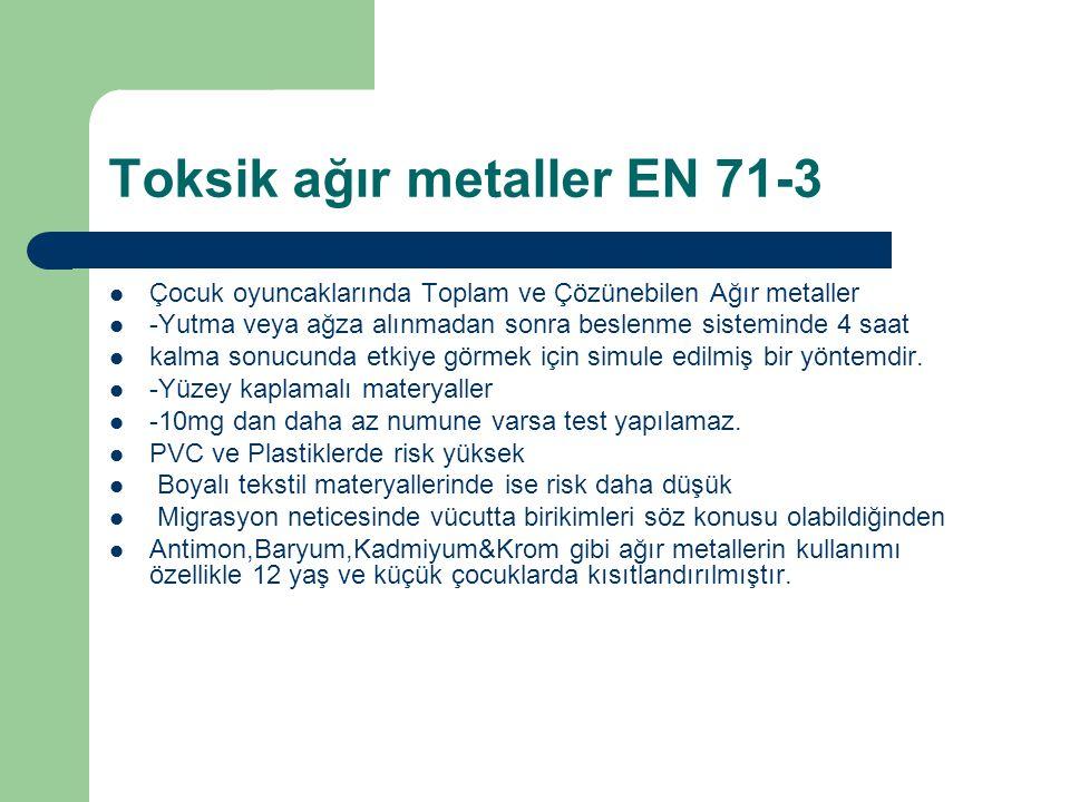 Toksik ağır metaller EN 71-3