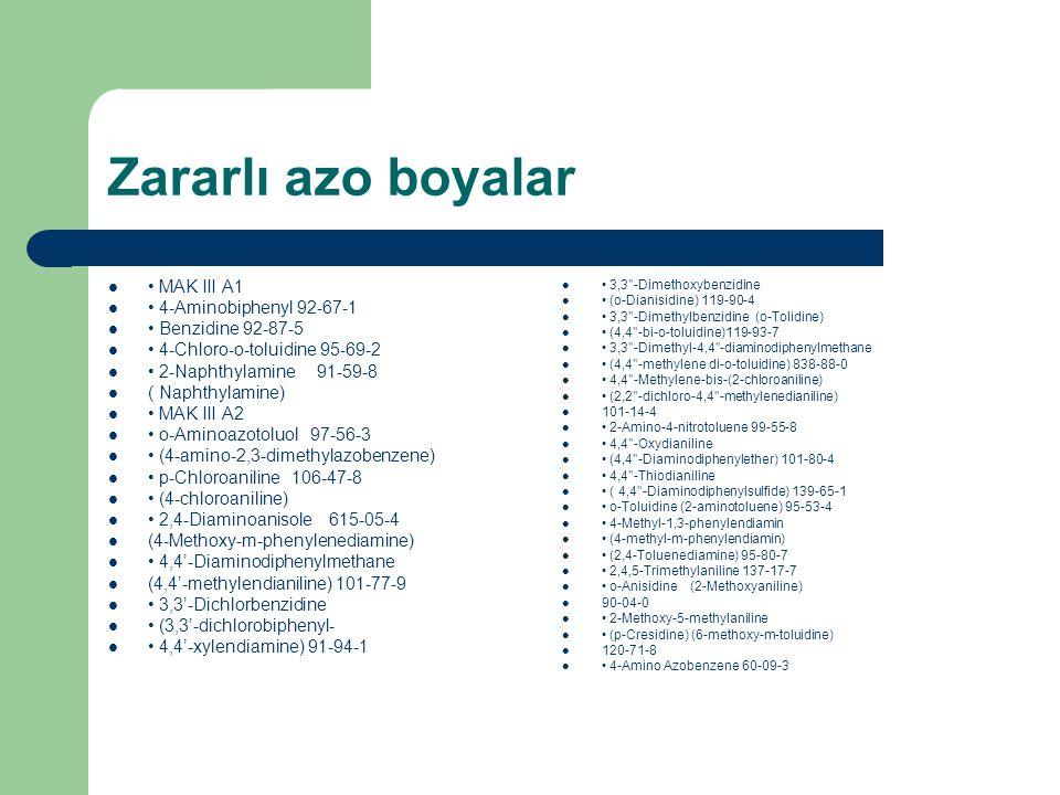 Zararlı azo boyalar • MAK III A1 • 4-Aminobiphenyl 92-67-1