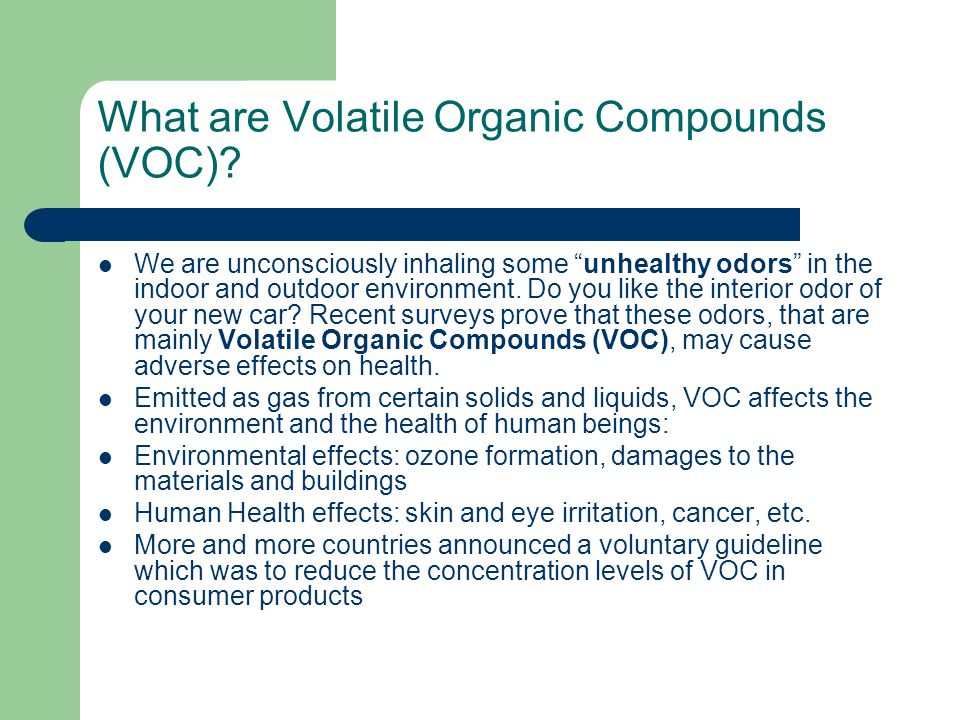 What are Volatile Organic Compounds (VOC)