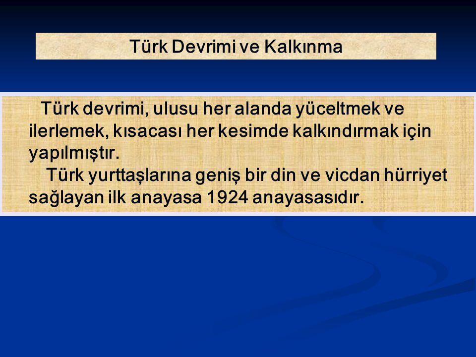 Türk Devrimi ve Kalkınma