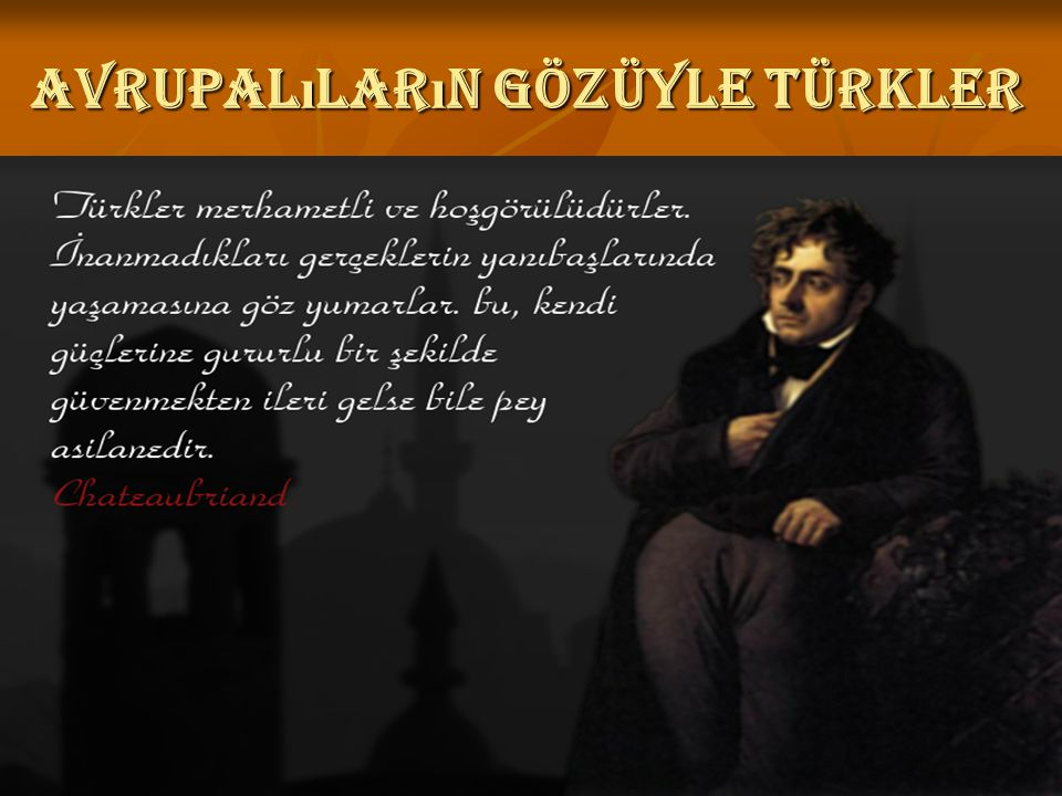 Avrupalıların gözüyle Türkler