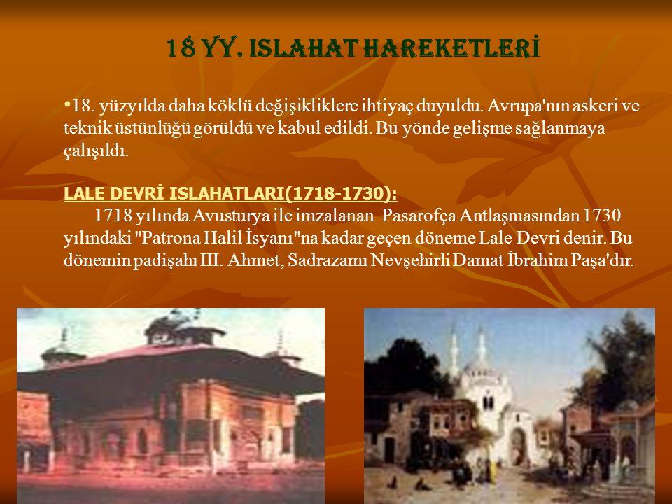 18 YY. ISLAHAT HAREKETLERİ