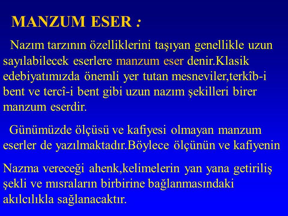 MANZUM ESER :