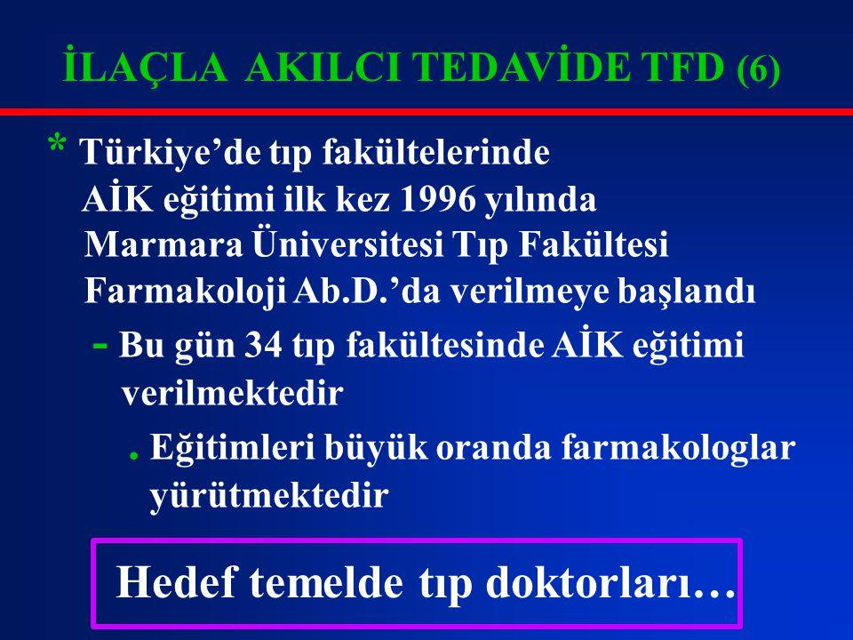 * Türkiye'de tıp fakültelerinde