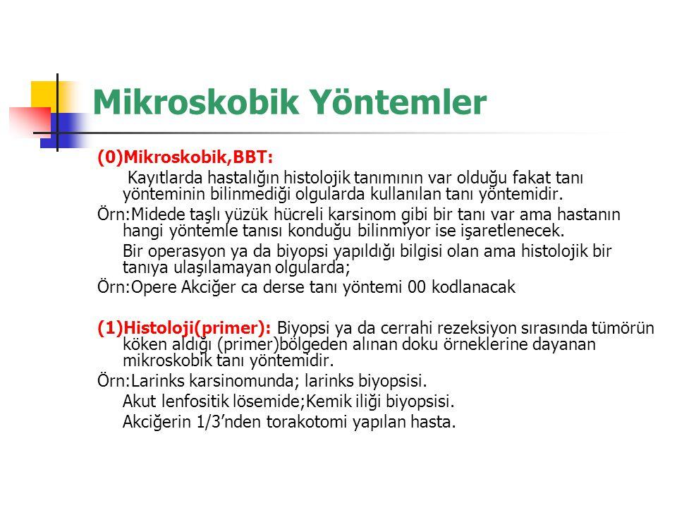 Mikroskobik Yöntemler