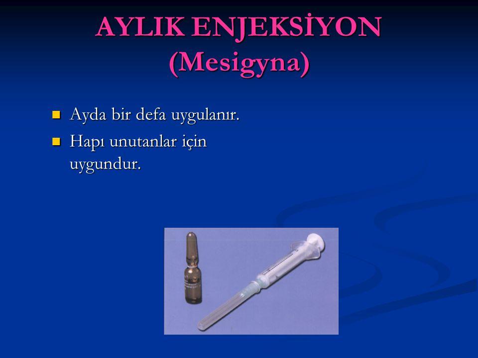 AYLIK ENJEKSİYON (Mesigyna)