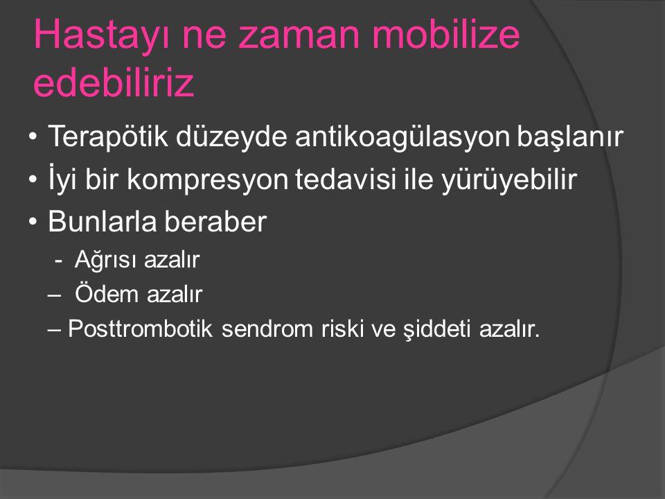 Hastayı ne zaman mobilize edebiliriz
