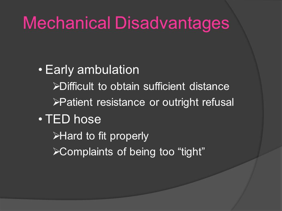 Mechanical Disadvantages