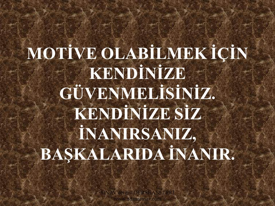 SINAV dergisi DERSHANELERİ www.adanasinav.com