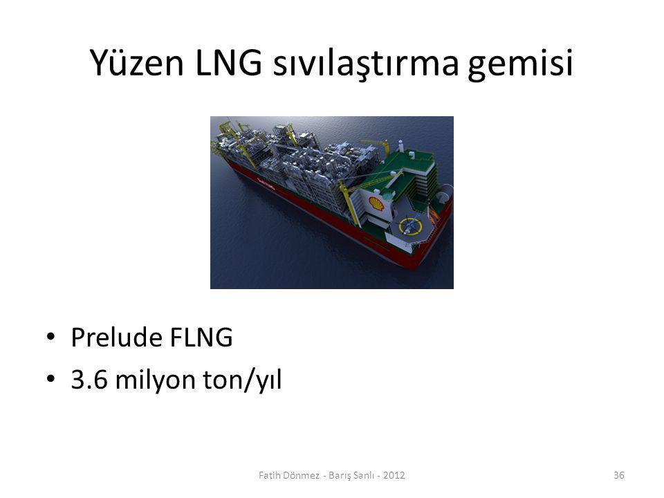 Yüzen LNG sıvılaştırma gemisi