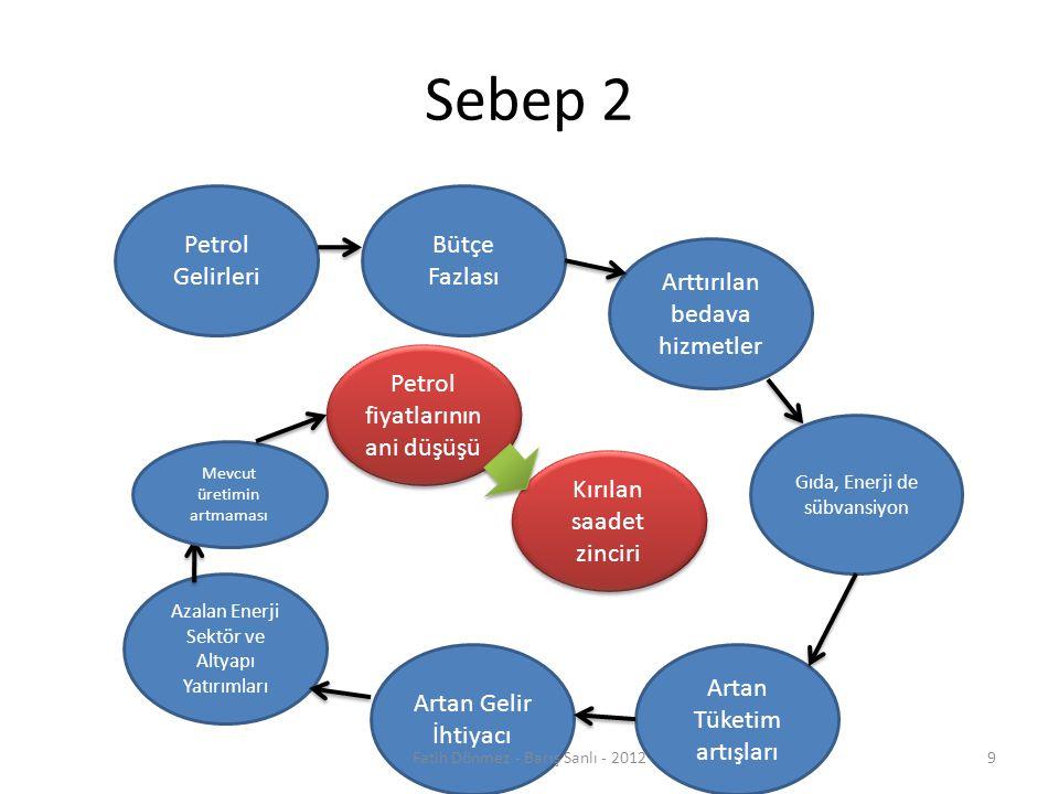 Sebep 2 Petrol Gelirleri Bütçe Fazlası Arttırılan bedava hizmetler