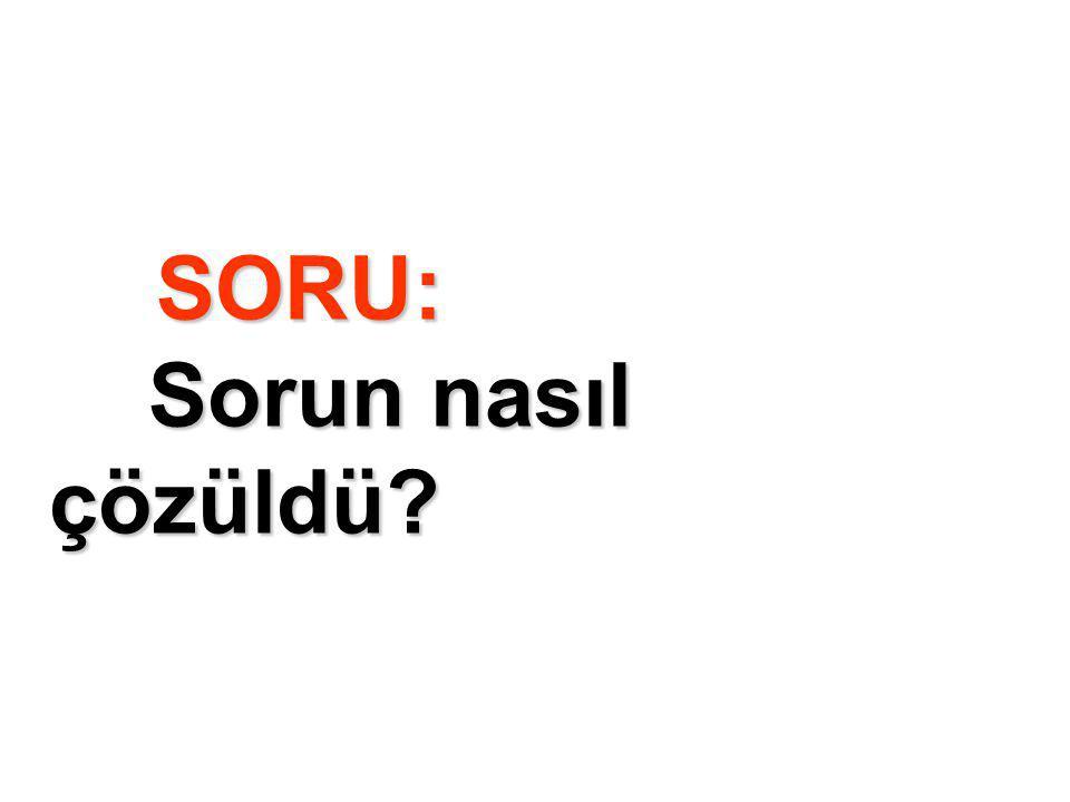 SORU: Sorun nasıl çözüldü