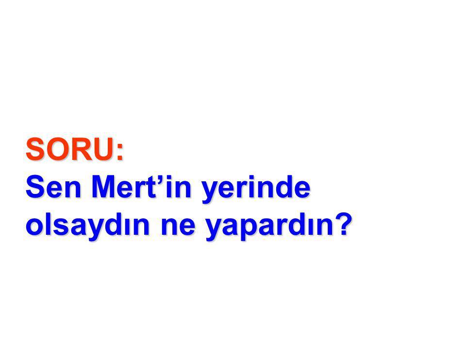 SORU: Sen Mert'in yerinde olsaydın ne yapardın