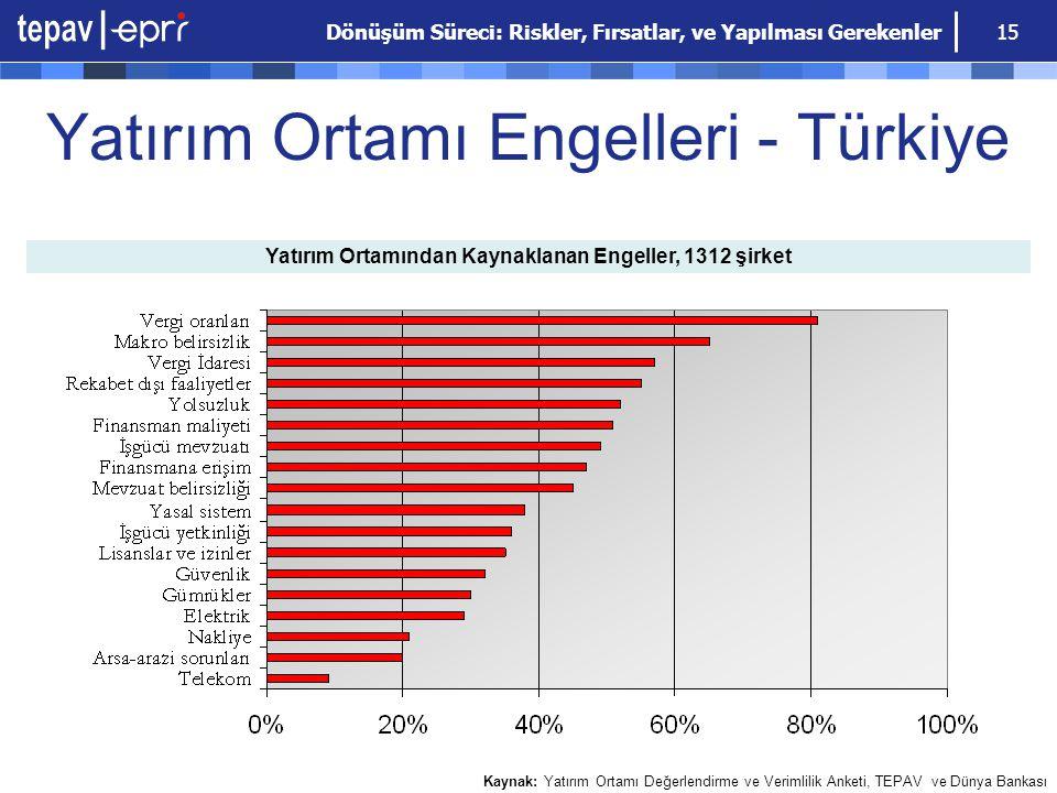 Yatırım Ortamı Engelleri - Türkiye