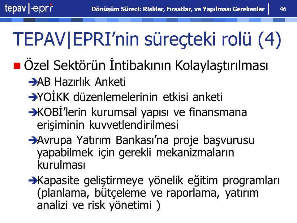 TEPAV|EPRI'nin süreçteki rolü (4)