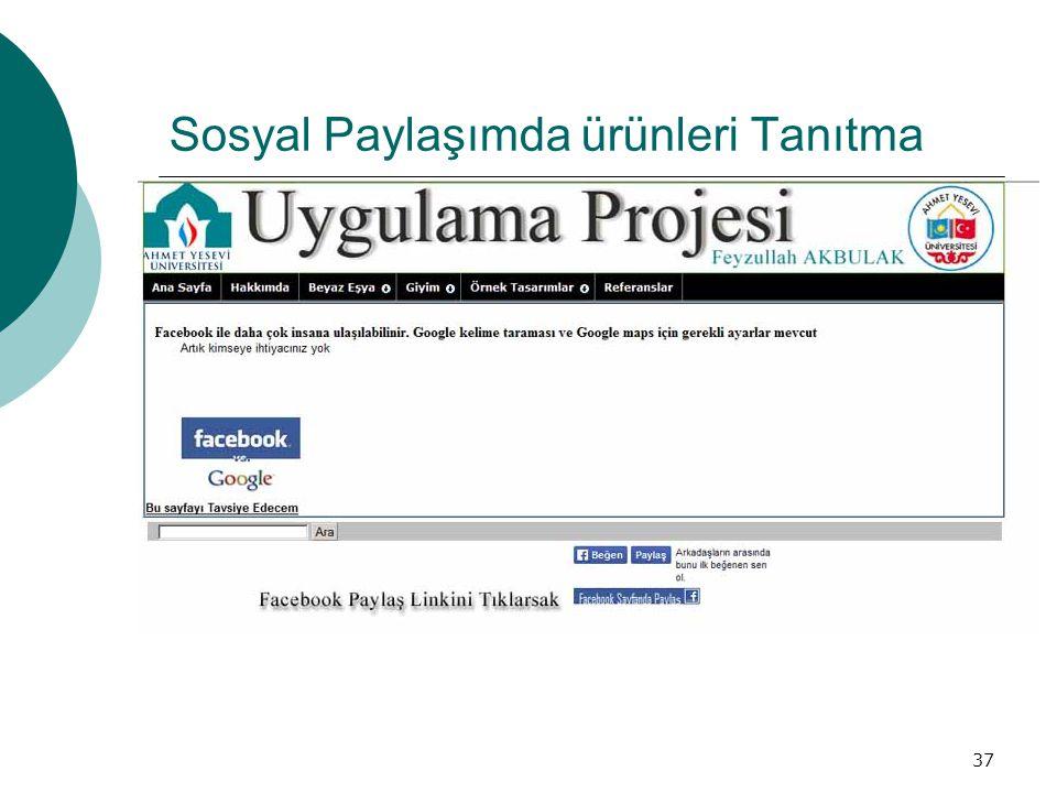 Sosyal Paylaşımda ürünleri Tanıtma
