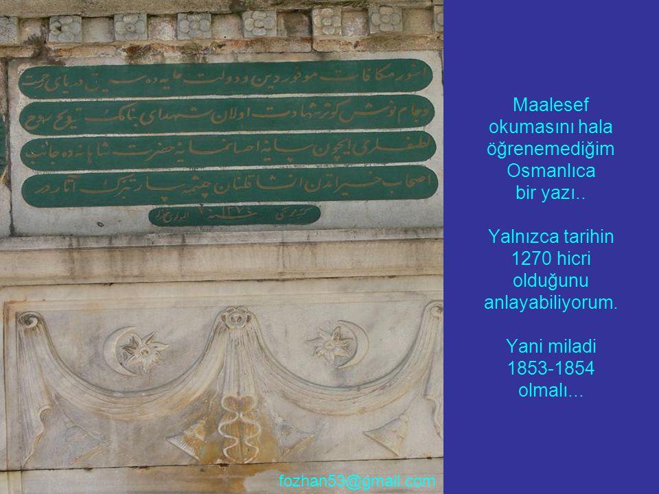 Maalesef okumasını hala öğrenemediğim Osmanlıca bir yazı
