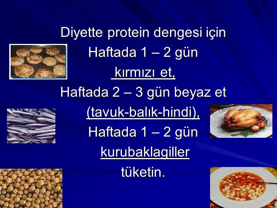 Diyette protein dengesi için