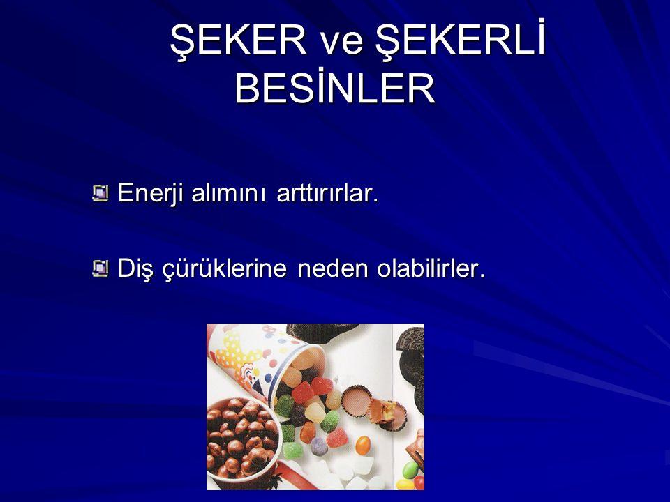 ŞEKER ve ŞEKERLİ BESİNLER
