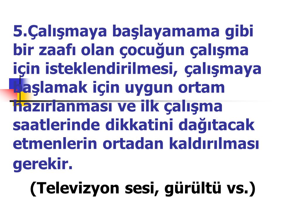 (Televizyon sesi, gürültü vs.)