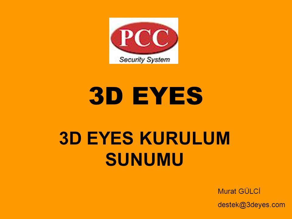 3D EYES 3D EYES KURULUM SUNUMU Murat GÜLCİ destek@3deyes.com