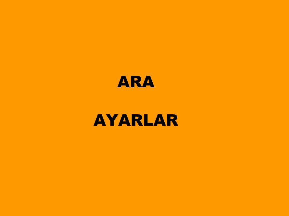 ARA AYARLAR