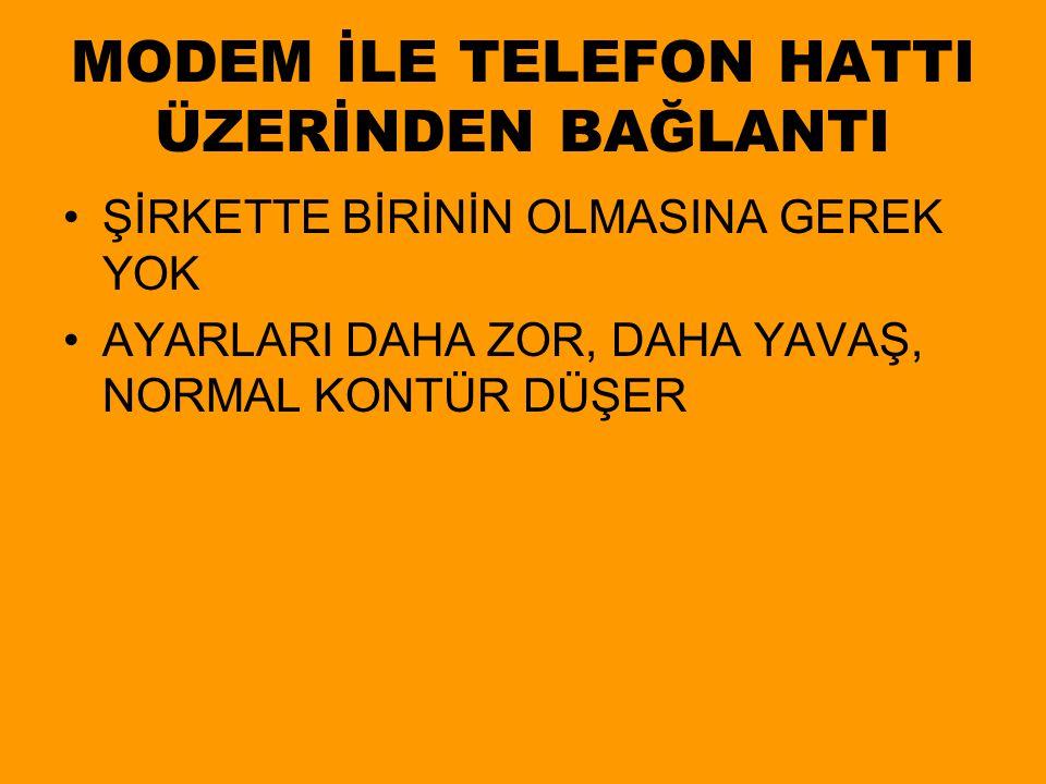 MODEM İLE TELEFON HATTI ÜZERİNDEN BAĞLANTI