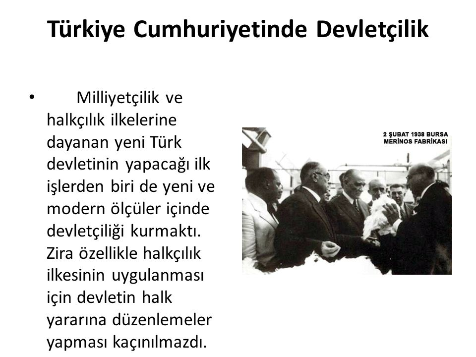 Türkiye Cumhuriyetinde Devletçilik