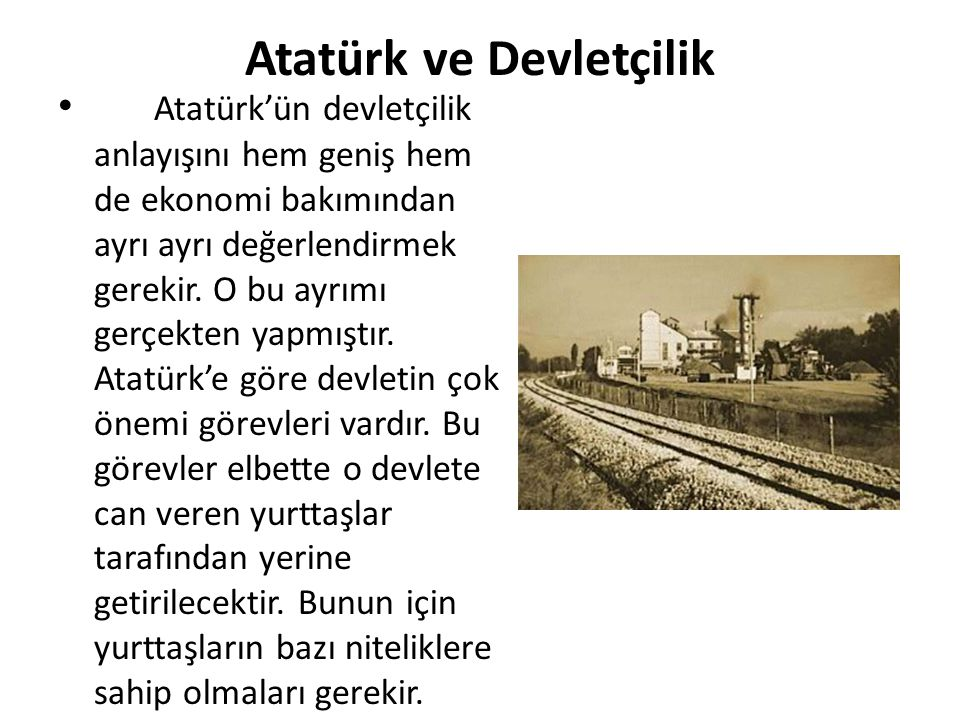 Atatürk ve Devletçilik