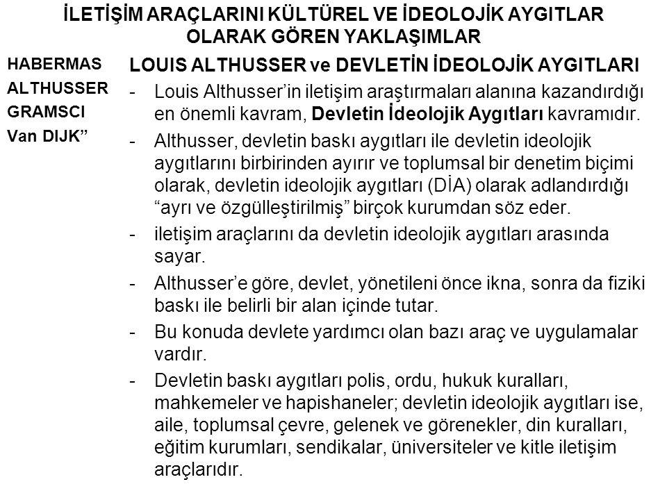 LOUIS ALTHUSSER ve DEVLETİN İDEOLOJİK AYGITLARI