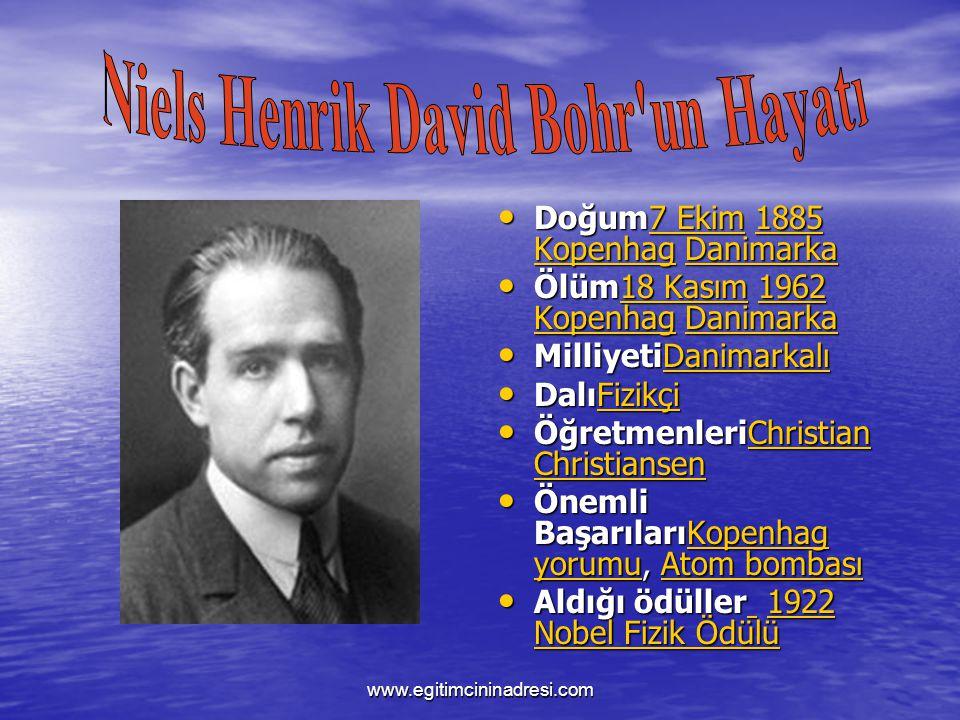 Niels Henrik David Bohr un Hayatı