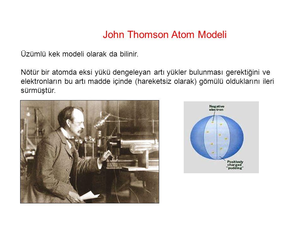 John Thomson Atom Modeli
