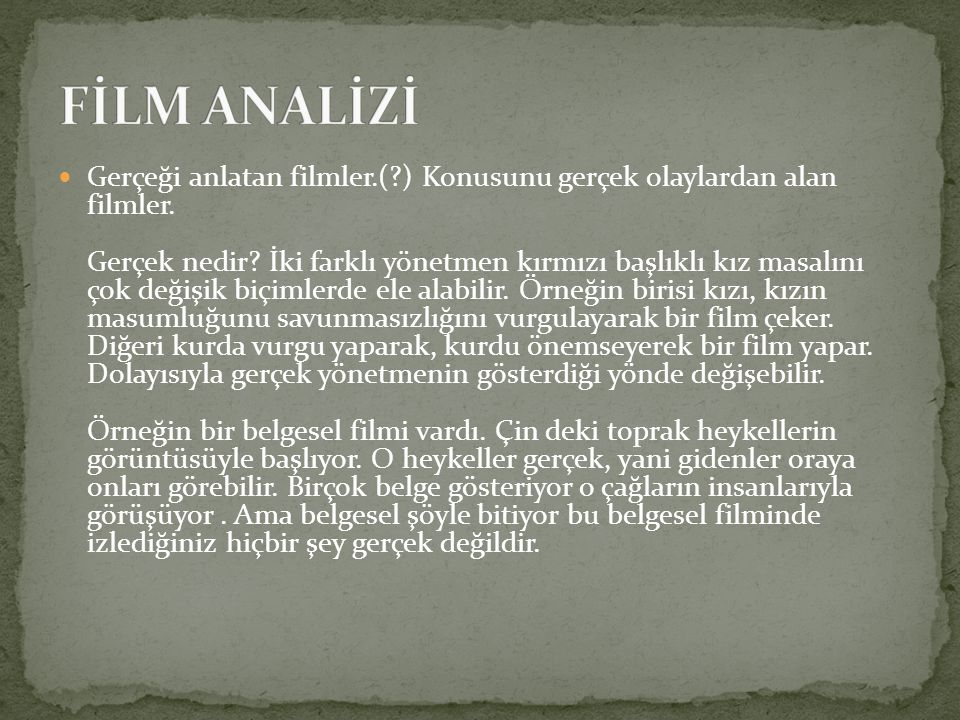 FİLM ANALİZİ
