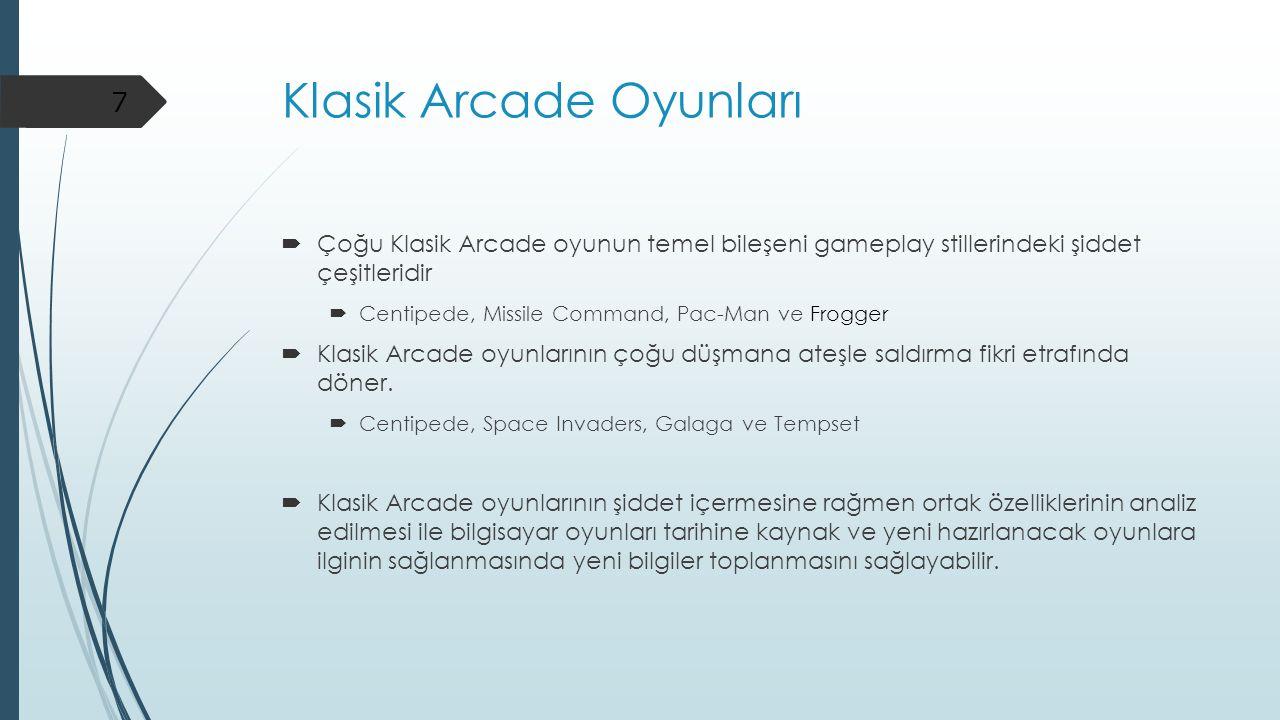 Klasik Arcade Oyunları
