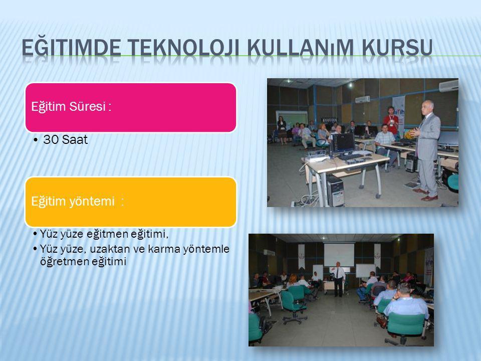 Eğitimde teknoloji kullanım kursu