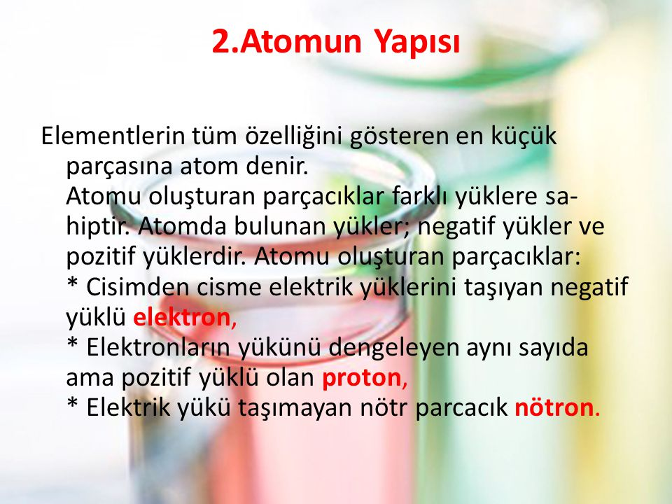 2.Atomun Yapısı