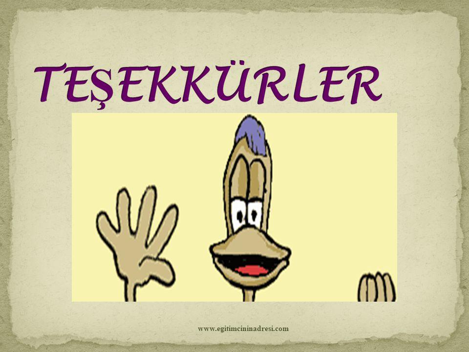 TEŞEKKÜRLER www.egitimcininadresi.com