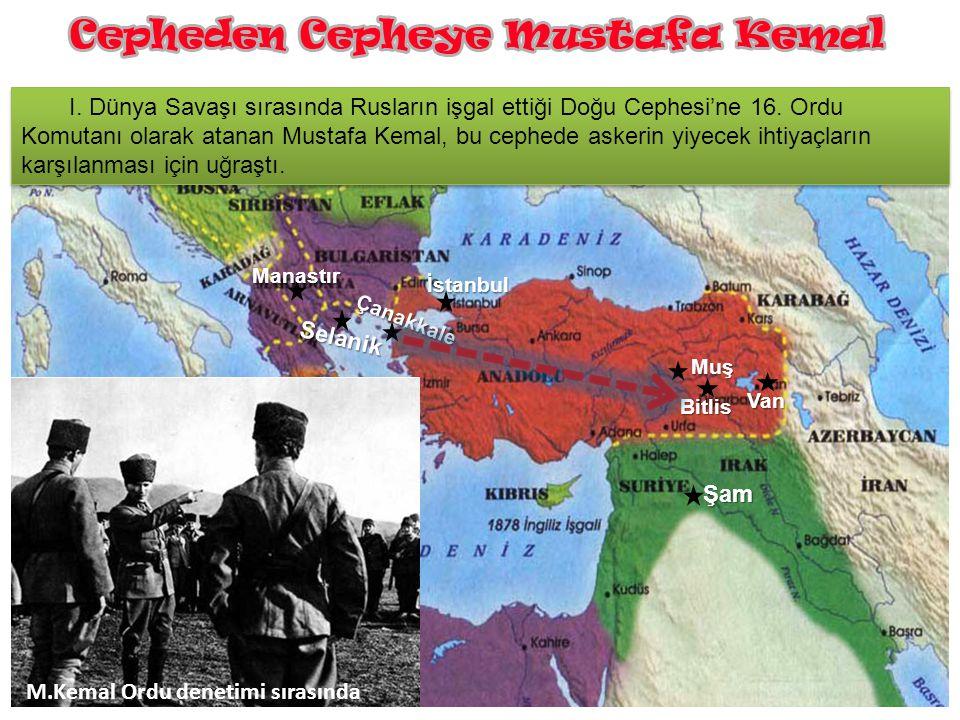 M.Kemal Ordu denetimi sırasında