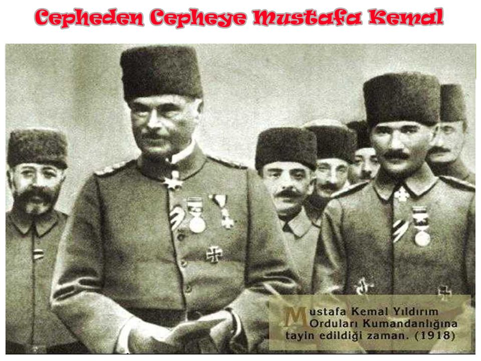 Doğu Cephesi'nden yine I. Dünya Savaşı sırasında Suriye Cephesi'ne 7