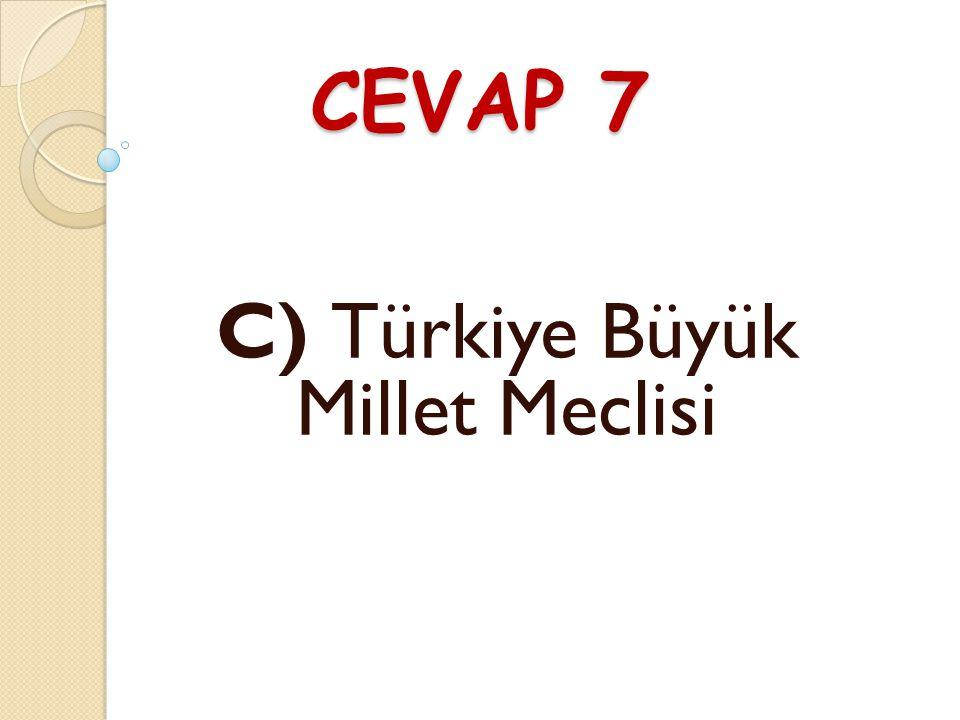 C) Türkiye Büyük Millet Meclisi