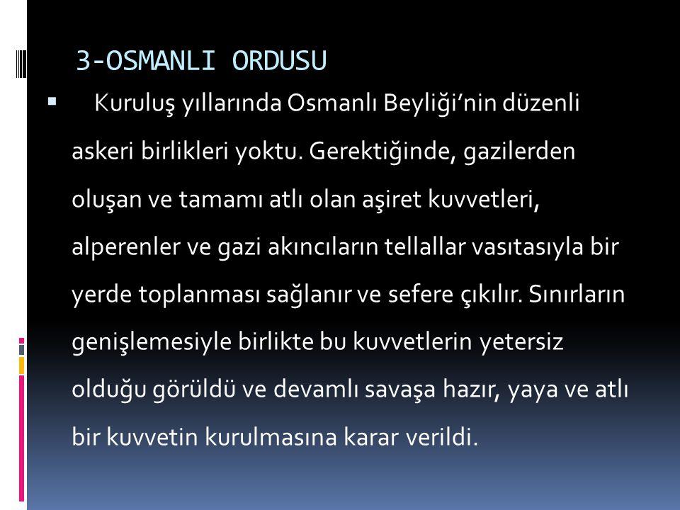3-OSMANLI ORDUSU